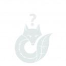 Glass bottle Petite, D8cm, H9.5cm, petrol